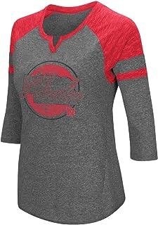 Nebraska Cornhuskers NCAA Women's Par 3/4 Sleeve Tri-Blend Notch Neck Shirt