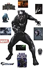 FATHEAD Marvel's Black Panther - Life-Size Officially Licensed Heroes Removable Wall Decal Multicolor
