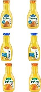 LUV BOX - Variety Tropicana Pure Premium Juice Pack 52oz Plastic Bottle, 6 Per Case Calcium Orange Juice ,Trop 50 Orange Juice , Home Style Orange Juice