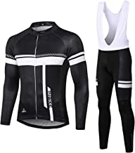 INBIKE Men's Cycling Jersey Set Moisture Wicking Breathable Quick-Dry Full Zip Long Sleeve Bike Shirt with 3D Padded Sport...