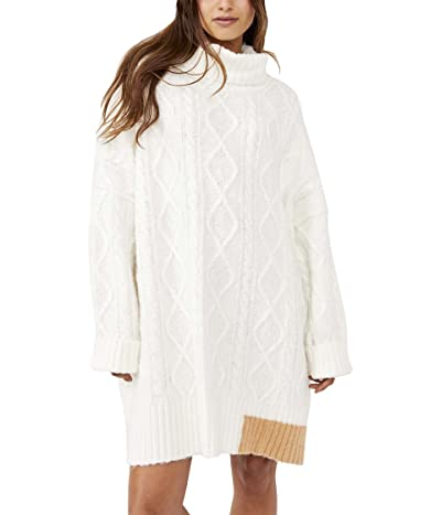 Free People Forever Cable Pullover Sweater Dress