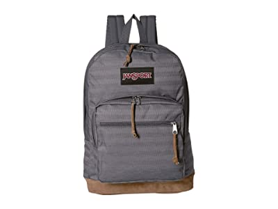 JanSport Right Pack Expressions (Deep Grey Ombre Herringbone) Backpack Bags