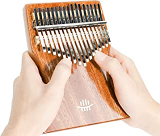 $29 » REGIS Kalimba 17 Keys Thumb Piano Tune Hammer and Study Instruction, Portable Mbira Sanza Finger Piano,Gift for Kids Adult...