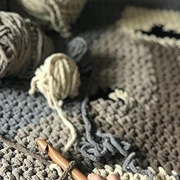 Wool crochet needle without handle crochet needle prym 20 mm braided cord grey crochet jumbo wool