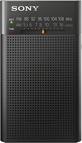 Sony ICFP26 Portable AM/FM Radio, Black