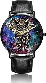 Marble Pattern Wrist Watch, LONHAO Personalized Unisex PU Leather Waterproof Band Wrist Watch for Women&Men