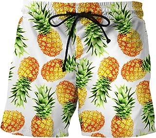 Hombre Pantalón Corto Bañador Verano Hawaii Beaches UV con Cordón