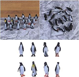 TOYANDONA 16 Pièces Fun Penguin Figurine Décoration De Bureau Miniature Faune du Monde Animal Figures Pingouin pour Enfant...