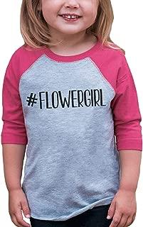 Baby Girl's Hashtag Flower Girl Wedding Raglan Tee