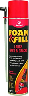 Red Devil 0912 Foam & Fill Large Gaps & Cracks Expanding Polyurethane Foam Sealant, 20 oz, Off White