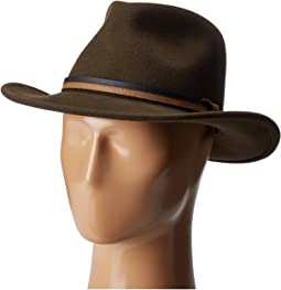 Outback Wool Drop Brim Fedora Hat