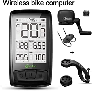 MEILAN Cycling Computer M4 ANT+ BLE4.0 Wireless Bike Computer with Cadence/Speed Sensor Waterproof