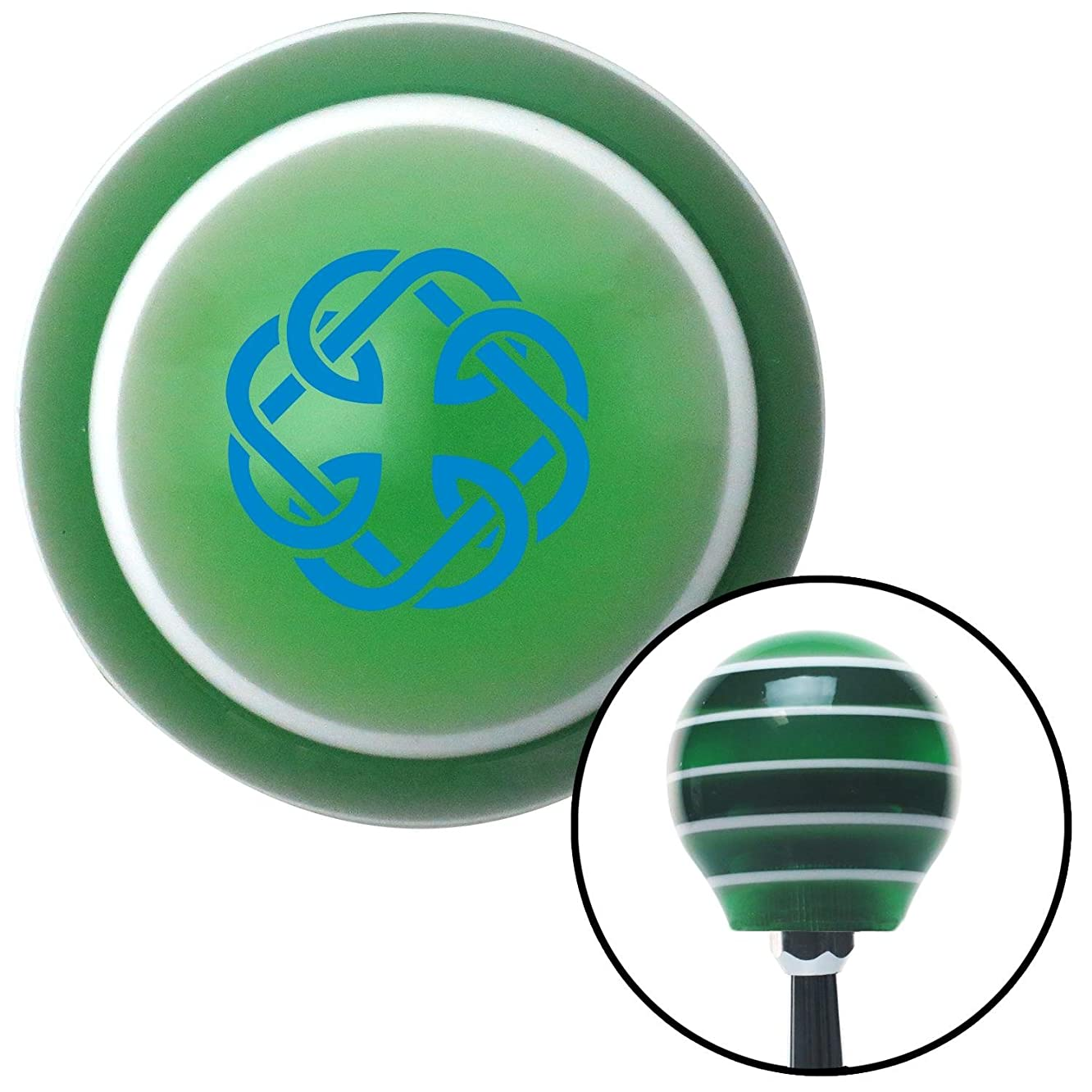 American Shifter 128534 Green Stripe Shift Knob with M16 x 1.5 Insert (Blue Celtic Father Daughter Symbol)
