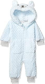 Quiltex 男孩幼童熊珊瑚绒爆米花新颖婴儿服
