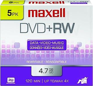 Maxell 634045 4.7Gb Dvd+Rw Disc Slim Jewel