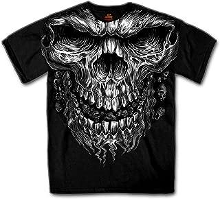 Hot Leathers Shredder Skull Jumbo 100% Cotton Double Sided Printed Biker T-Shirt