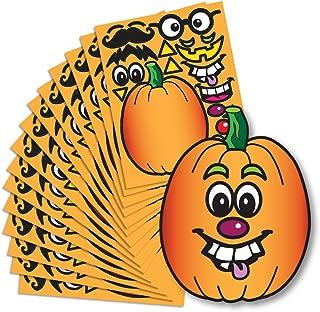 Create A Pumpkin Stickers - 15 Full Size Pumpkin Face Craft Sticker Sheet Halloween Crafts for Kids