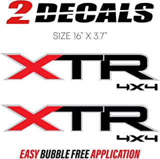 Ford F-150 XTR 4x4 Decal Stickers Truck Bed Side (Set of 2) 2004-2014