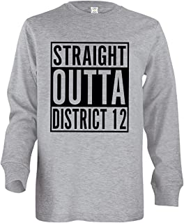 Tenacitee Girl's Youth Straight Outta District 12 Long Sleeve T-Shirt