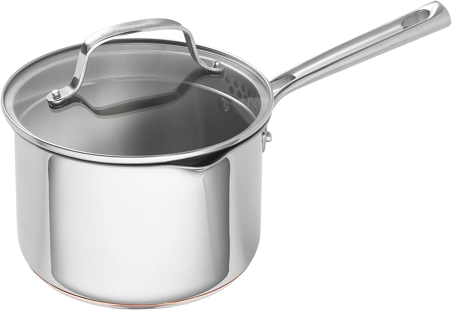Emeril Lagasse 62897 copper core cookware stock pot, 3 quart, Silver