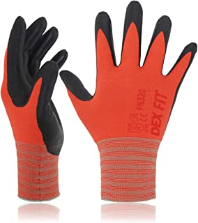 DEX FIT Gardening Work Gloves FN320, 3D Comfort Stretch Fit, Power Grip, Thin..
