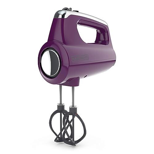 Black+Decker Helix Performance Premium Hand, 5-Speed Mixer, Purple