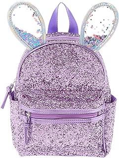 Claire's Girl's Bella the Bunny Glitter Mini Backpack - Lilac Purple