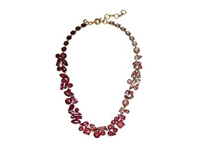 J.Crew Multi Facet Glitz Chain Necklace (Soft Azalea) Necklace