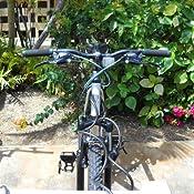 Vélo Clarks Poignée Bar Grips Vice Lock-on Guidon Noir Anodisé fin