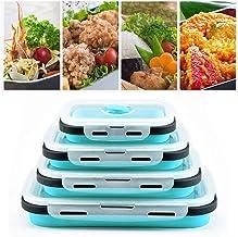 Ulalaza Silicona Plegable Bento Almacenamiento Almuerzo