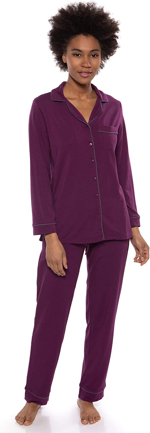 Women's ButtonUp Sleepwear Set (Classic Comfort) EcoFriendly Gifts by Texere