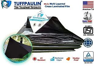 TUFFPAULIN (30x24,Black) Tarpaulin Waterproof UV Treated Virgin Extra Strong IS14611:2016 Approved 150 GSM