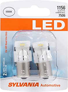 SYLVANIA - 1156 LED White Mini Bulb - Bright LED Bulbs, Ideal for Back Up, Daytime Running Light (DRL) and More. (Contains 2 Bulbs)