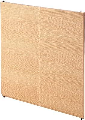 無印良品 スタッキングキャビネット・木製扉ハイタイプ(左右セット)・オーク材 厚み2.5×幅38.5×高さ76.5cm 38918004