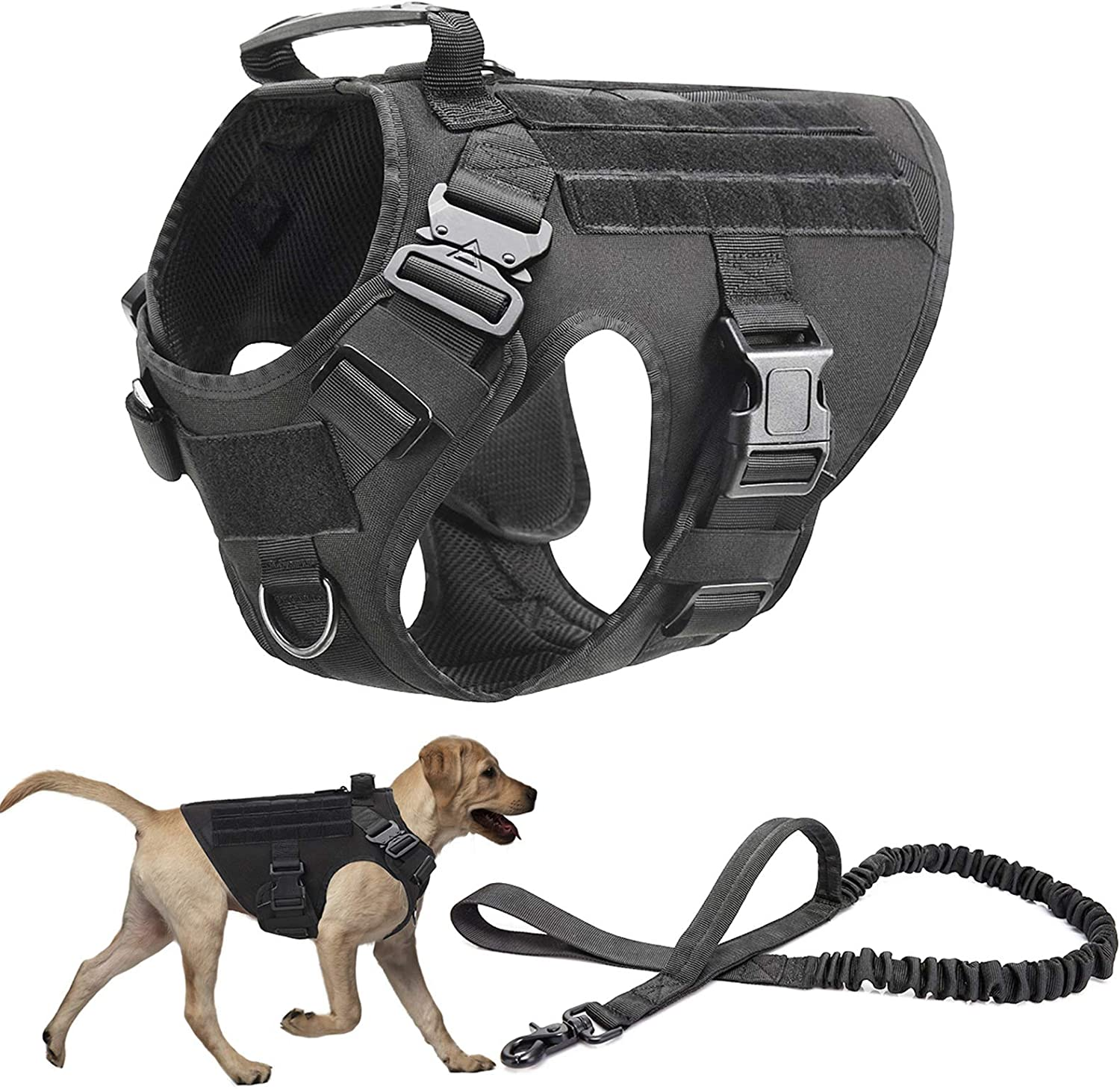 PJDDP Tactical Dog Harness specialty shop and Bungee Set Detroit Mall Me Leash for Large