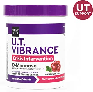 Vibrant Health - U.T. Vibrance, Crisis Intervention Formula to Support Urinary Tract Health with D-Mannose, Cranberry, and Dandelion Root, Gluten Free, Vegetarian, Non-GMO, 10 Servings (FFP)