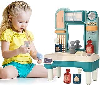 اسباب بازی سینک ظرفشویی DXJ با آب روان وانمود کنید اسباب بازی های حمام را برای کودکان غرور با موسیقی آینه بازی کنید