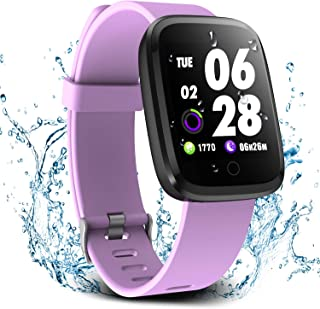 Verpro Smart Watch, Waterproof Fitness Activity Tracker with Heart Rate Monitor, Wearable Oxygen Blood Pressure Wrist Watch, Bluetooth Running GPS Tracker Sport Band, Purple