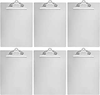 AmazonBasics Aluminum Clipboard - Letter Size, Standard Clip, 6-Pack