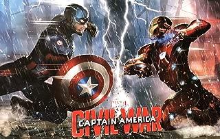 Civil War Captain America Iron Man Marvel Movie Cool Wall Decor Art Print Poster 36x24