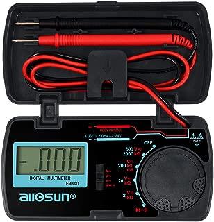 ALLOSUN Digital Multimeter/DMM/Multi Tester Amp/Ohm/Volt Meter/Diode and Continuity Test Pocket Size (EM3081)