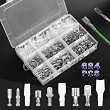 Rantecks 270PCS 2.8mm 4.8mm 6.3mm Wire Spade Connector Male and Female Wire Crimp Terminal Block with Insulating Sleeve Assortment Kit for DIY Motorcycle Motorbike Car Vehicle Boats Electrical Instrum