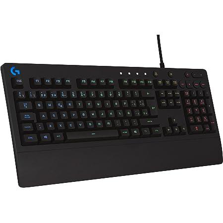 Logitech G213 Prodigy Teclado Gaming, RGB LIGHTSYNC, Teclas retroiluminadas, Resistente a Salpicaduras, Teclas personalizables, Controles Multimedia ...