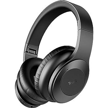 Amazon Com Tribit Quietplus Active Noise Cancelling Headphones 5 0 Bluetooth Headphones With Mic 30 Hrs Playtime Cvc8 0 Hi Fi Sound Type C Foldable Wireless Headphones Over Ear For Airplane Travel Work Black Electronics