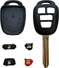 New 4 Button Replacement Shell, Buttons & Duracell Battery Replacement for Toyota Remote Key Head