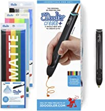 3Doodler Create+ 3D Printing Pen for Teens, Adults & Creators! - Onyx Black (2021 Model) - with FREE Refill Filaments + St...