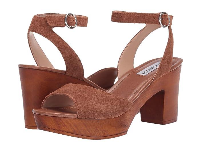 60s Shoes, Boots | 70s Shoes, Platforms, Boots Steve Madden Lonnie Heeled Sandal Chestnut Suede High Heels $47.97 AT vintagedancer.com