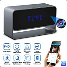 Hidden Camera, Monja Spy Camera Clock, Real 1080P WiFi Cameras, 150°Angle Wireless Nanny Cam, Superior Auto IR Night Vision, Motion Detection, Loop Recording for Indoor Home Security - 3rd Gen