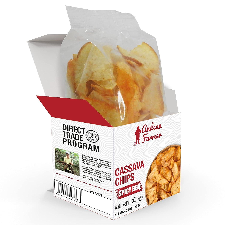 Andean Farmer Spicy Cheap SALE Start Colorado Springs Mall BBQ Cassava 4.25 Box oz. Chips Vegetable