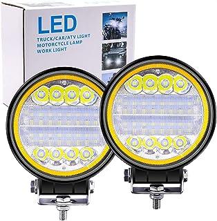 """Biqing 2 SZT 96W Reflektor Roboczy LED Żółte oczy anioła,4.5"""" Listwa świetlna LED 12V 24V Dodatkowe Reflektory Pojazdów Te..."""